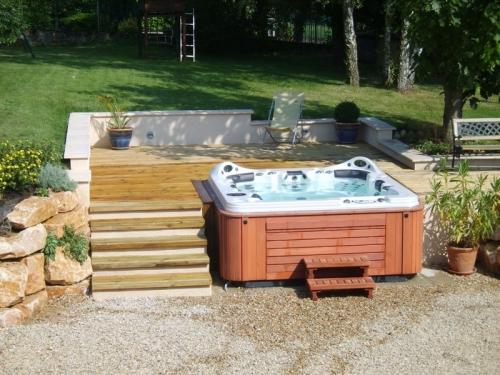 am nagement ext rieur de spa dans ain. Black Bedroom Furniture Sets. Home Design Ideas